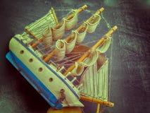 Simulation junk boat Stock Image