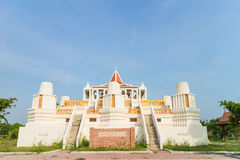 Simulation for Nakhon luang castle Stock Image