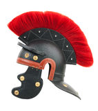 Simulation of a Roman centurion helmet. On  white background Stock Photo
