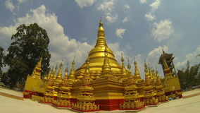 Simulation of Shwedagon Pagoda, Yangon, Myanmar. stock video