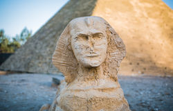 Simulation of sphinx front Royalty Free Stock Image