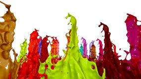 Colorful background with liquid. Simulation of splashes of paint on a musical speaker that play music. 3d splashes of. Simulation of splashes of ink on a musical vector illustration