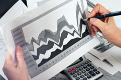 Study of financial opportunities Stock Photography