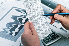 Study of financial opportunities Royalty Free Stock Photo