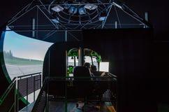 Simulator för helikopter Mi-8 Royaltyfria Bilder