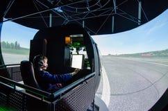 Simulator för helikopter Mi-8 Fotografering för Bildbyråer