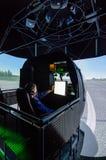 Simulator för helikopter Mi-8 Arkivfoton