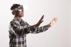 simulator för virtuell verklighet 3D Arkivbild