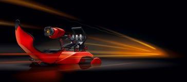 Simulatore di corsa di automobile della sedia Immagini Stock