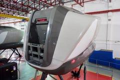 Simulatoren in der kanadischen Luftfahrt-Elektronik von Air Asia in Kuala Lumpur lizenzfreies stockfoto