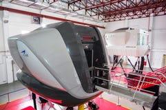 Simulatoren in der kanadischen Luftfahrt-Elektronik von Air Asia in Kuala Lumpur stockfoto