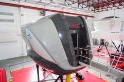 Simulatoren in der kanadischen Luftfahrt-Elektronik von Air Asia in Kuala Lumpur lizenzfreie stockfotografie