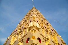 Simulazione della pagoda di Bodhgaya in Tailandia fotografia stock
