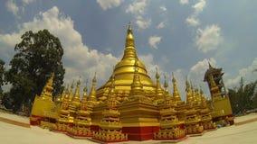 Simulazione della pagoda di Shwedagon, Rangoon, Myanmar archivi video