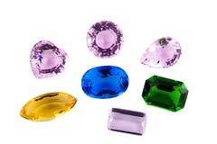 Simulazione delle gemme isolata su fondo bianco Fotografie Stock