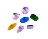 Simulazione delle gemme isolata su fondo bianco Fotografia Stock