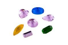 Simulazione delle gemme isolata su fondo bianco Fotografie Stock Libere da Diritti
