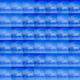 Simulazioni del fondo del ghiaccio con delle le cellule di griglia colorate di ghiaccio, blu molle illustrazione vettoriale