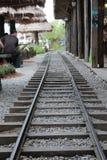 Simulera järnväg i marknaden arkivbilder