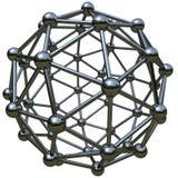 simulering 3d av den atom- strukturen Arkivbilder