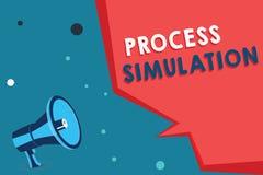 Simulering för process för ordhandstiltext Affärsidéen för teknisk framställning fabricerade studien av ett system stock illustrationer