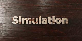 Simulering - grungy trärubrik på lönn - 3D framförd fri materielbild för royalty stock illustrationer