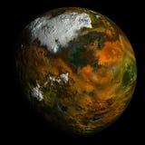 Simulierter Planet auf Schwarzem stock abbildung