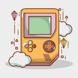 Simutalor electrónico del juego del juego del videojuego ilustración del vector