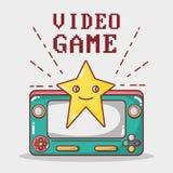 Simutalor electrónico del juego del juego del videojuego stock de ilustración