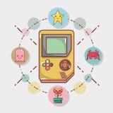 Simutalor electrónico del juego del juego del videojuego libre illustration