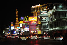 Sin city at night stock photo