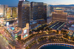 Sin City at night before sunset stock photography