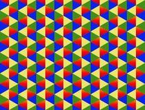 Sin fin colorido del triángulo del diamante del modelo azulverde amarillo rojo bicolor del fondo stock de ilustración