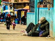 Sin hogar Foto de archivo libre de regalías