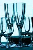 Sin las copas de vino Fotos de archivo libres de regalías