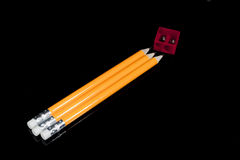 Sin procesar de lápices Imagen de archivo libre de regalías