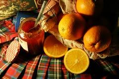 Sinaasappel & jam Royalty-vrije Stock Afbeeldingen
