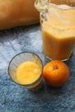 Sinaasappel - appelsap Royalty-vrije Stock Foto