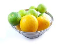 Sinaasappel & bloemachtergrond met groene strepen Royalty-vrije Stock Afbeelding