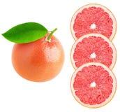 Sinaasappel, citroen, kalk plakken die op witte achtergrond worden geïsoleerd Stock Afbeelding