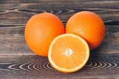 Sinaasappel, de Helft van Sinaasappel Gezond levensstijlconcept Royalty-vrije Stock Afbeelding