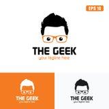 Sinaasappel de het Embleem/het Pictogram Vectorontwerpzaken Logo Idea van Geek Stock Foto