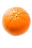 Sinaasappel die op Wit wordt geïsoleerdt stock afbeelding