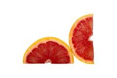 Sinaasappel die op witte achtergrond wordt geïsoleerds Royalty-vrije Stock Afbeeldingen