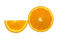 Sinaasappel die op witte achtergrond wordt geïsoleerds Stock Fotografie