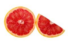 Sinaasappel die op witte achtergrond wordt geïsoleerds Stock Afbeelding