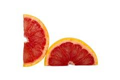Sinaasappel die op witte achtergrond wordt geïsoleerds Royalty-vrije Stock Afbeelding