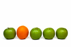 Sinaasappel en appelen Royalty-vrije Stock Foto