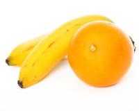 Sinaasappel en bananen Stock Afbeelding