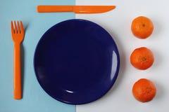 Sinaasappel en Blauw royalty-vrije stock fotografie
